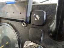 Modified Dash Blanking Plate and Installed Reverse Camera Shutoff Switch