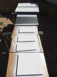 Painted Lower Kitchen Cabinet Doors White