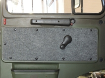 Reinstalled Carpeted Door Panels