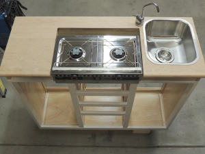 Test Fit Sink, Faucet, and Stove