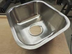 Trimmed Down, Sanded, and Blended Sink Flange
