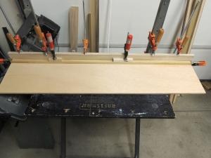 Assembled base of passenger side upper cabinet