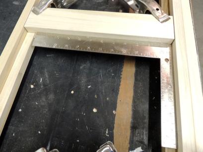 Assembled passenger side upper cabinet face