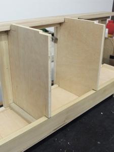 Assembled upper kitchen cabinet