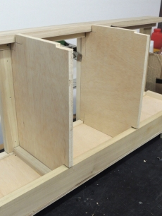 Assembled upper kitchen cabinet