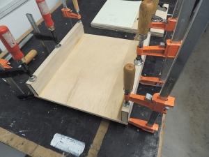 Assembled upper pantry divider