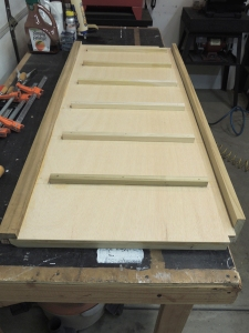 Bonded cubby mount rails to back of headboard