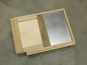 Cut aluminum for breaker switch plate