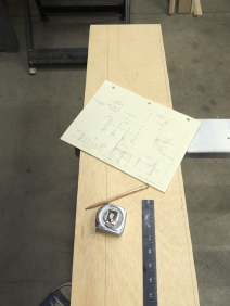 Cut plywood for bed headboard