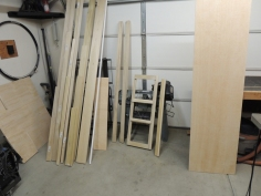 Cut plywood for habitat interior components