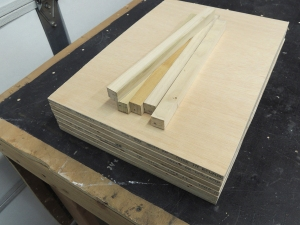 Cut shelves for pantry from 12mm plywood