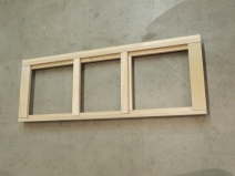 Cut wood and started assembling kitchen upper cabinets
