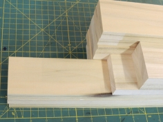 Cut wood for under kitchen counter support
