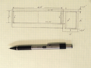 Designed basic layout of under kitchen counter support