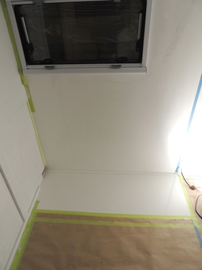 Dry fit, masked, prepped, bonded, screwed, and installed kitchen cabinet riser