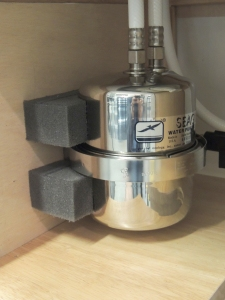 Fabricated and installed seagull water filter mount