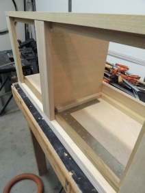 Final assembled overall passenger side upper cabinet