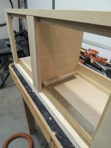 Final assembled overall passenger side upper cabinet