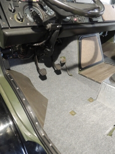 Final Installed Carpet and Rubber Floor Mat - Driver Side