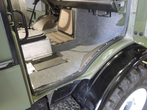 Final Installed Carpet and Rubber Floor Mat - Passenger Side