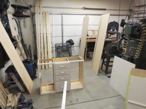 Habitat interior carpentry in progress