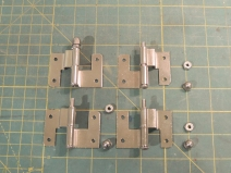Hardware for lower kitchen cabinet doors
