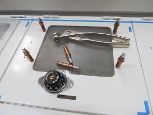 Installed polycarbonate on lockable pantry doors