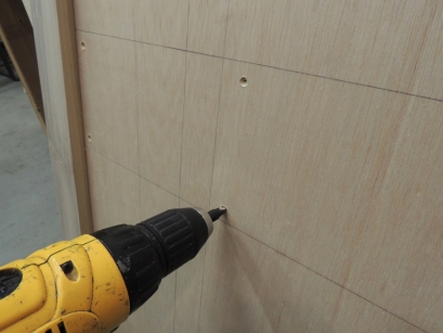 Pre-drilled and countersunk assembly screw holes in all wall components