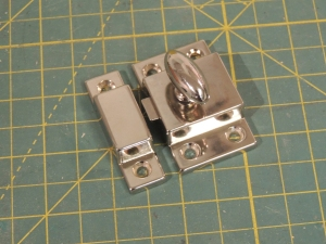 Received cabinet door latches