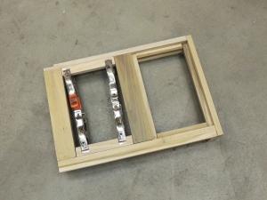 Started assembling breaker-switch box frame