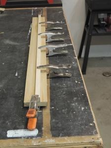 Started bonding headboard assembly
