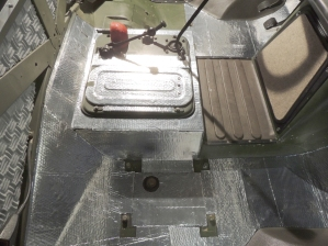 Templated and Applied Sound Deadening Mat to Cab Floor and Firewall