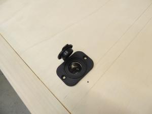 Cut hole for refrigerator power socket