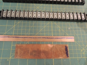 Fabricated copper ground bus bar distribution strips