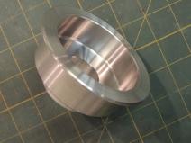 Finished machining shower valve mount