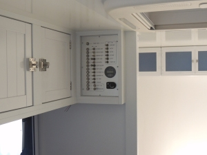 Installed breaker switch panel