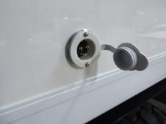 Installed ground power plug
