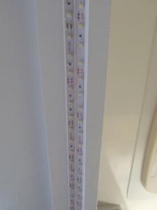 Installed kitchen LED under cabinet lights