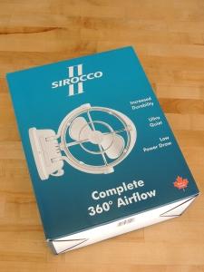 Received Sirocco II fan