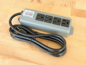 Received ground power outlet strip