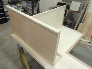 Started fabricating calorifier enclosure-refrigerator support
