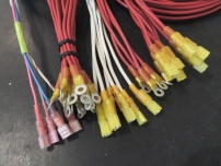 Terminated wires for switch breaker panel