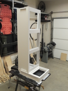 Applied final coat of paint to passenger side cabinet-switch box assembly