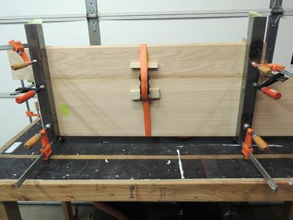 Bonded oak together for passenger side table