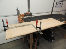 Cut and clearanced passenger side oak table to size