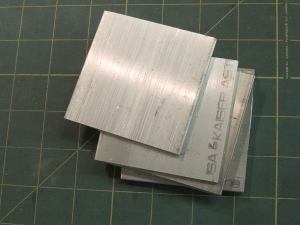 Machined mounting plates for awning
