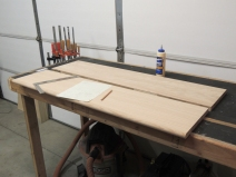Rough cut oak for passenger side table top