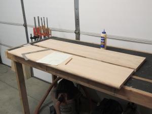 Rough cut oak for passenger side table top