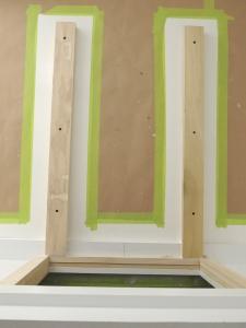 Bonded refrigerator slide mount to habitat floor using Korapop 225