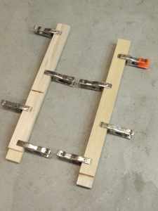 Cut lumber and bonded refrigerator slide mounts